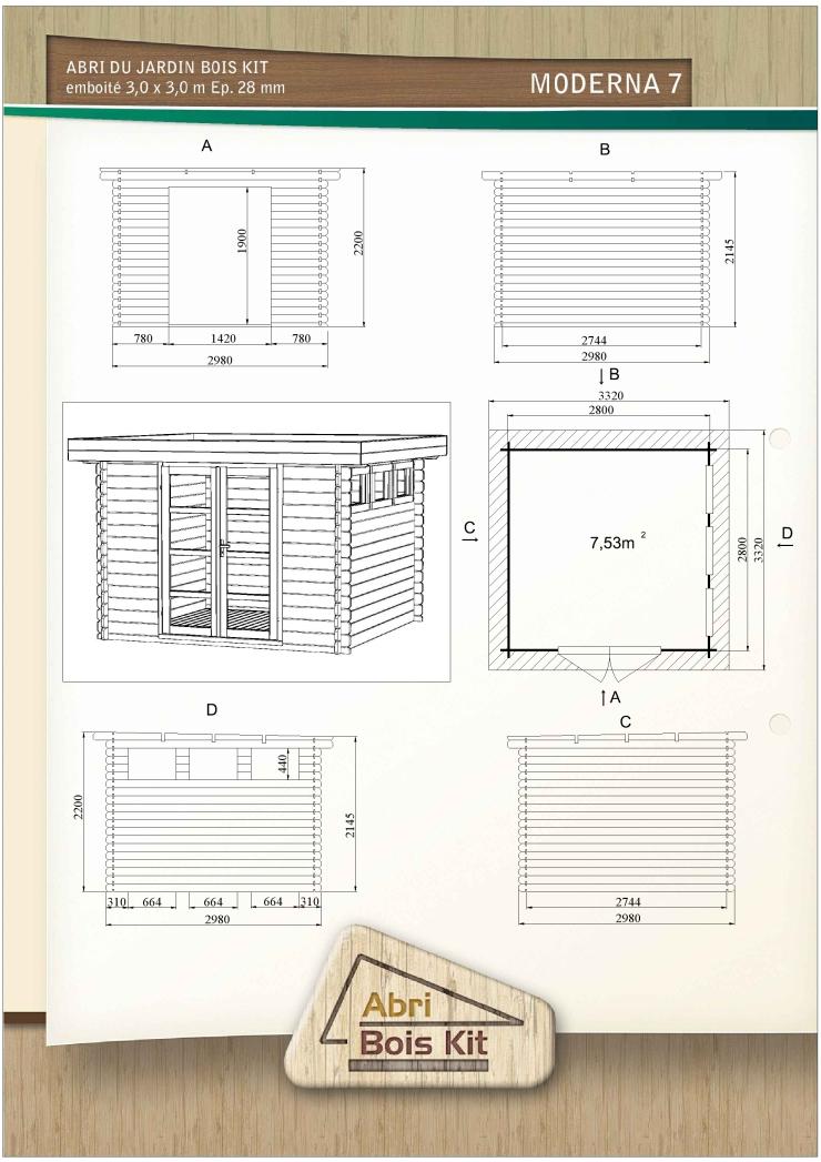 Abri de jardin en kit moderna 7 28mm - Plan abri de jardin pdf ...