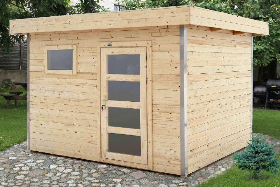 Abri en kit corni re aluminium vernis 5 chez abri bois kit - Abris de jardin en kit ...