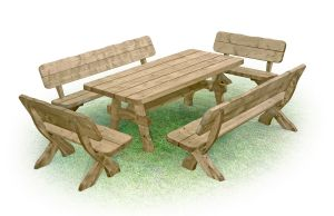 Salon de jardin en bois massif salon de jardin du style - Salon de jardin bas en bois ...