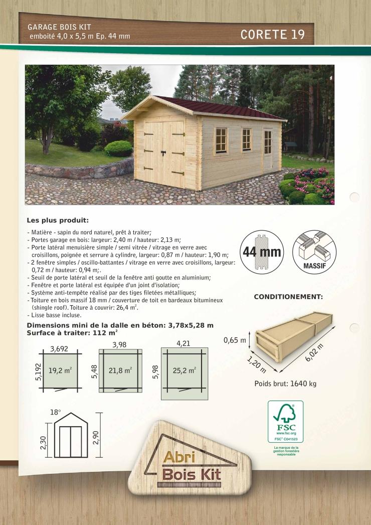 Garage Corete Mm  Garage Bois En Kit Prfabriqu