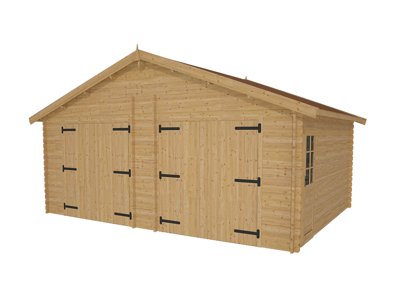 garage double pr fabriqu en bois twix 44mm. Black Bedroom Furniture Sets. Home Design Ideas