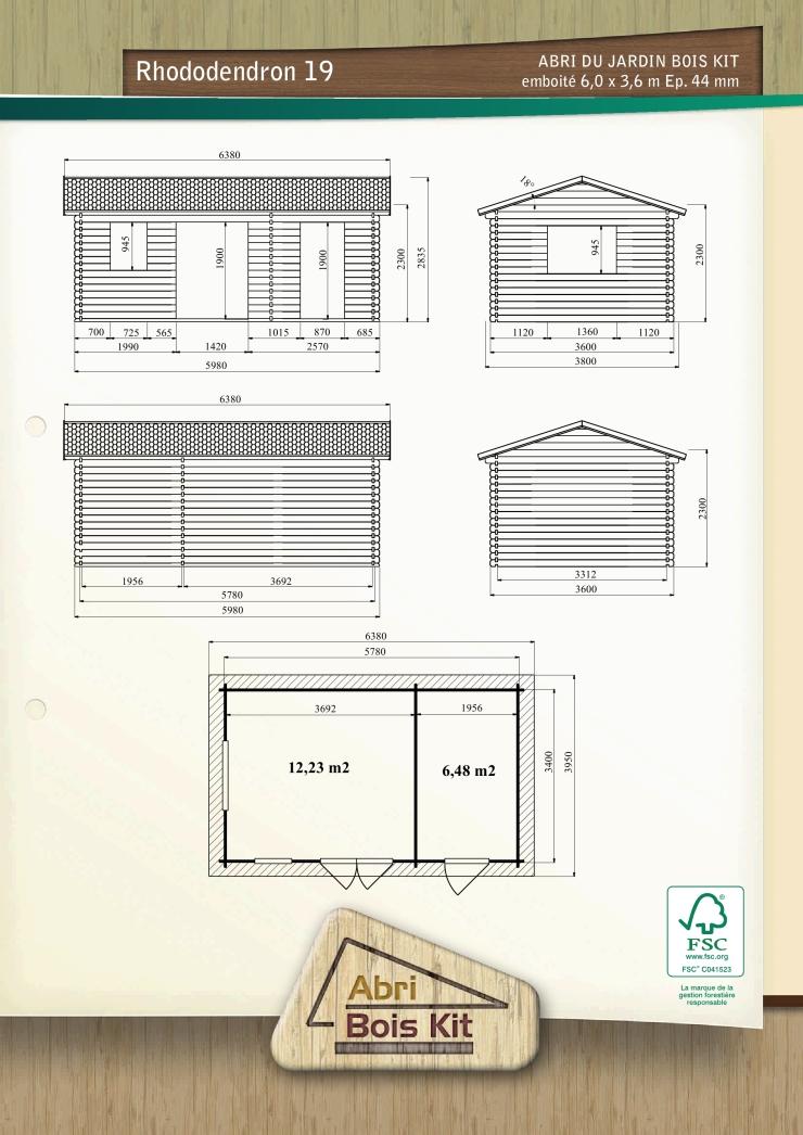 chalet de jardin brut embo ter rhododendron 18 44mm. Black Bedroom Furniture Sets. Home Design Ideas