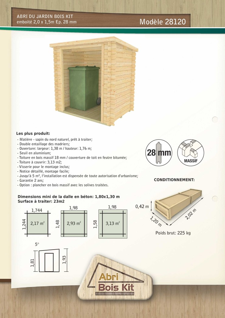construire un cache poubelle plan pour fabriquer un abri de jardin en bois with construire un. Black Bedroom Furniture Sets. Home Design Ideas