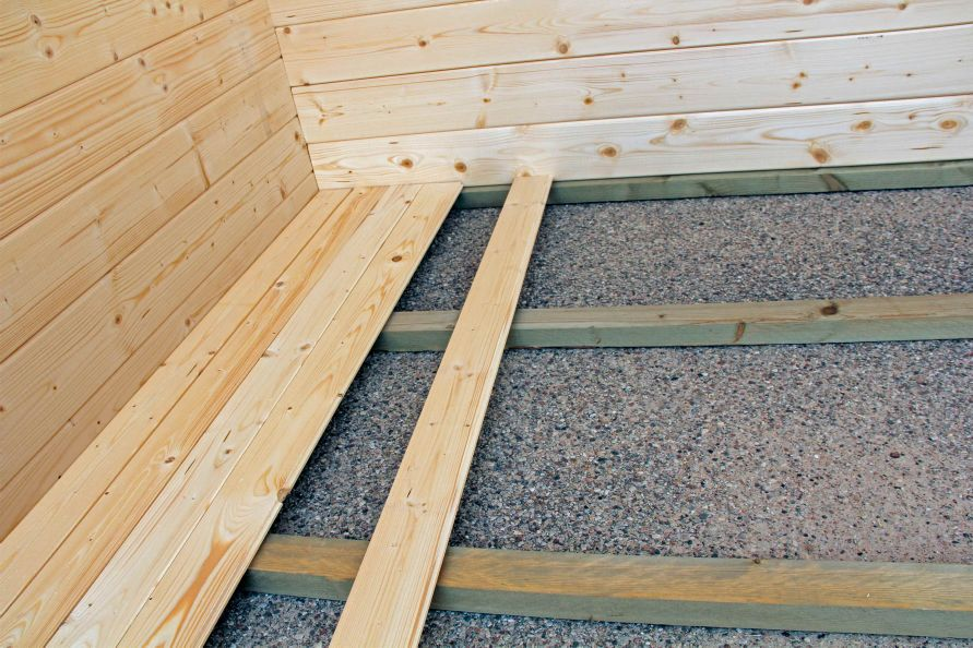 Plancher pour un abri c dre 11 - Comment renforcer un plancher bois ...