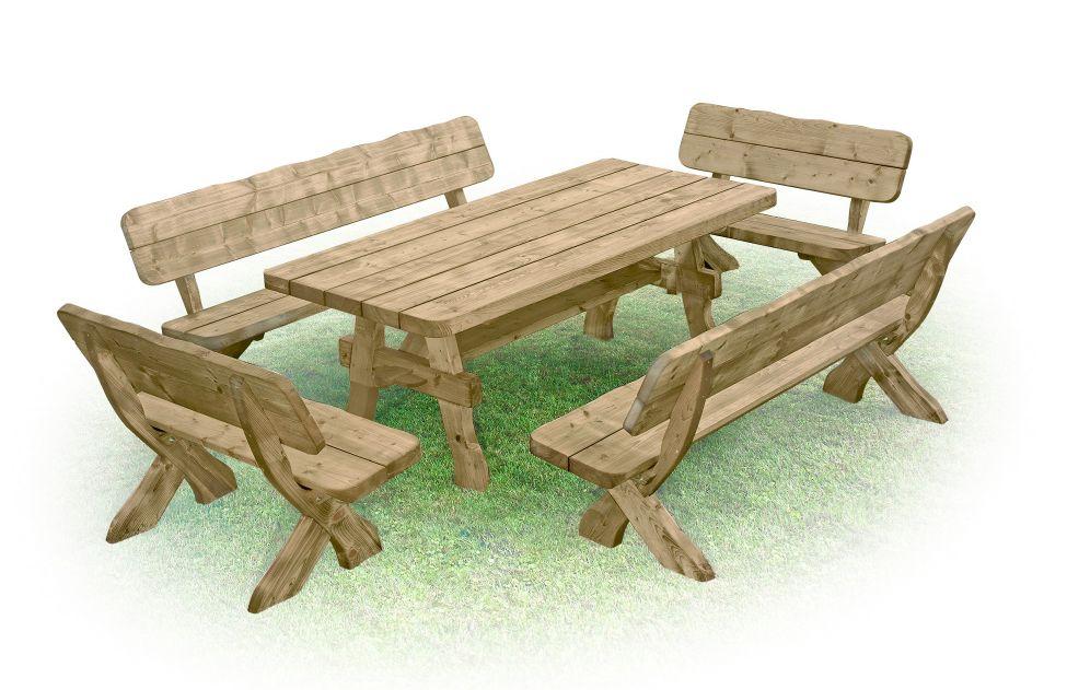 Salon de jardin en bois massif salon de jardin du style rustique ruta 2 - Cherche salon de jardin ...
