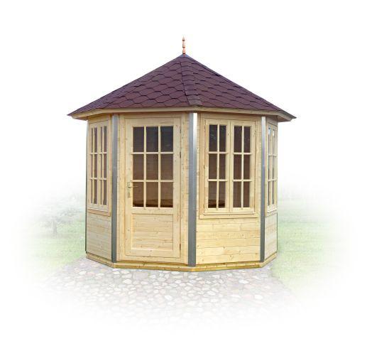 gloriette de forme h xagonale avec les cornieres aluminium lyra. Black Bedroom Furniture Sets. Home Design Ideas