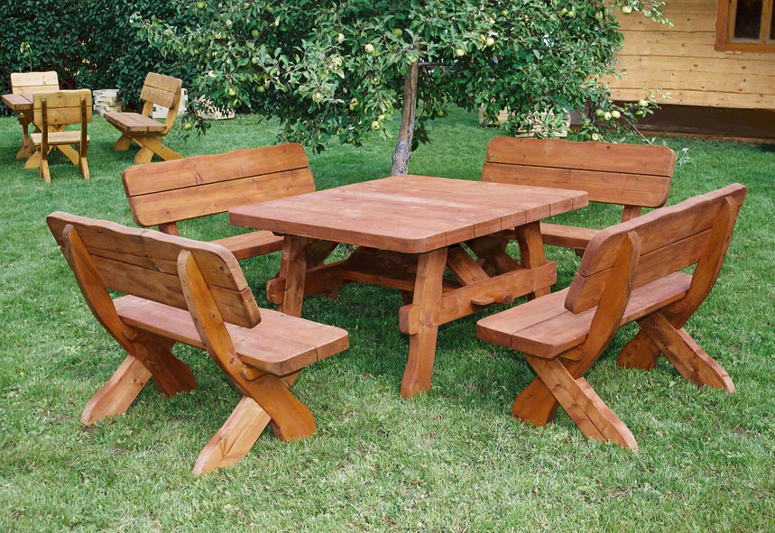Beautiful Table De Jardin En Bois Massif Photos - Amazing House ...
