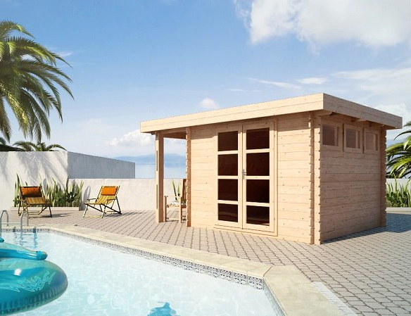 abris de piscine en bois acacia 7 28mm. Black Bedroom Furniture Sets. Home Design Ideas