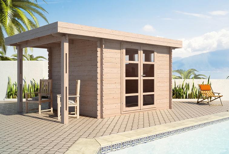 Abris de piscine en bois acacia 7 28mm for Abri jardin piscine