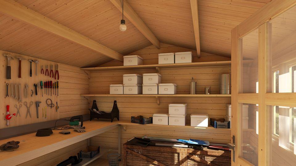 D couvrez notre garage pr fabriqu bois tulipe 19 44mm for Isoler toit garage