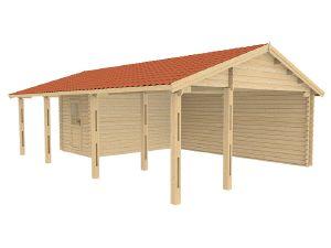 Garages et abris voiture en bois chez abri bois kit for Abri bois kit