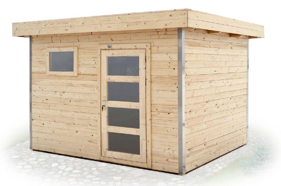 abri en kit corni re aluminium vernis 5 chez abri bois kit. Black Bedroom Furniture Sets. Home Design Ideas