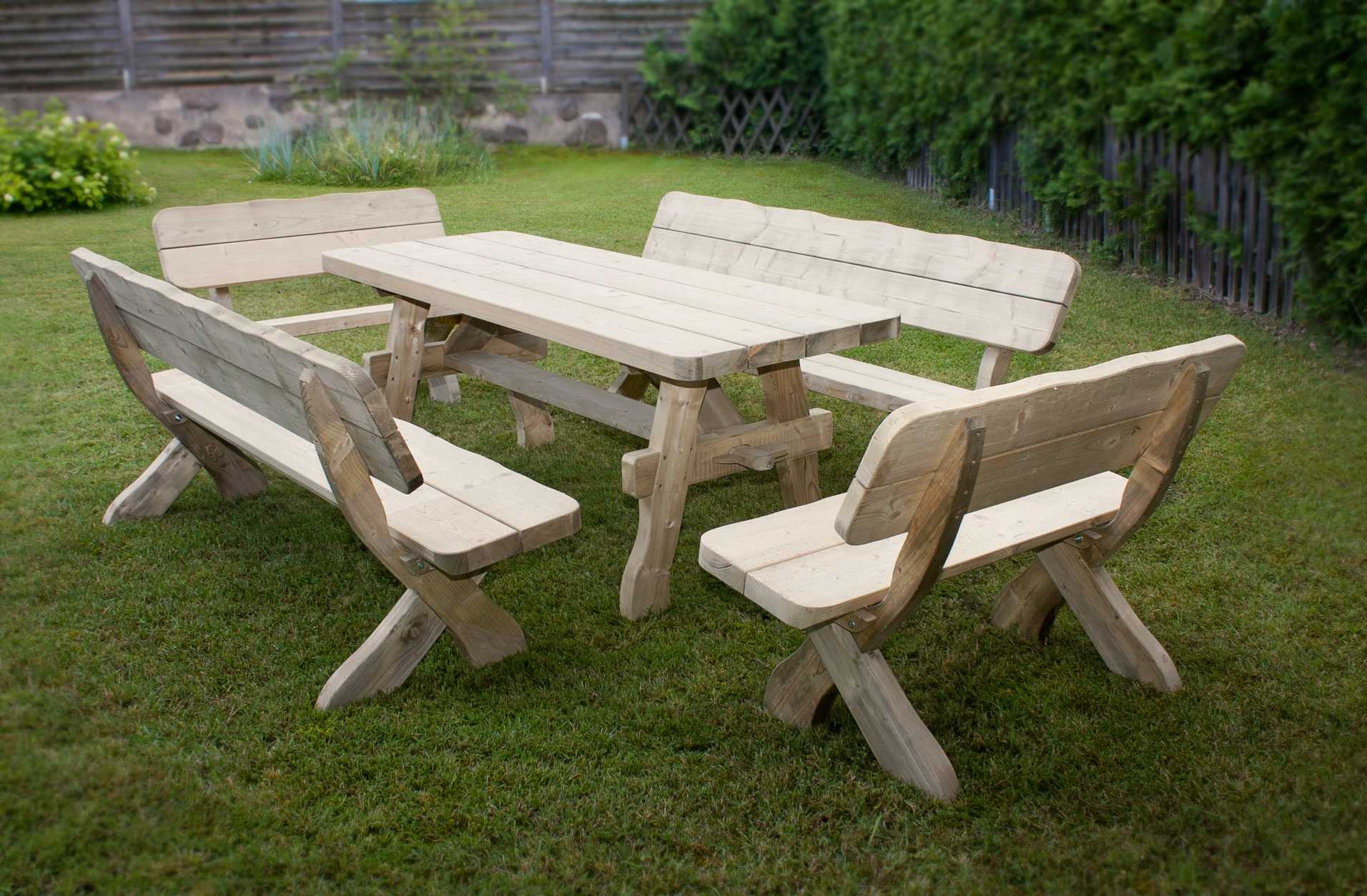 Table De Salon De Jardin En Bois – Qaland.com